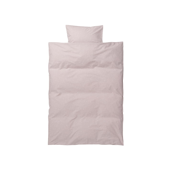 Hush Baby Bedding by ferm Living in milkyway pink