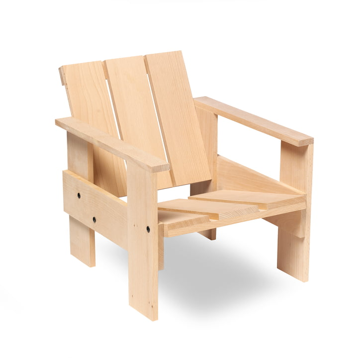 Spectrum - Gerrit Rietveld Junior Crate Chair, natural