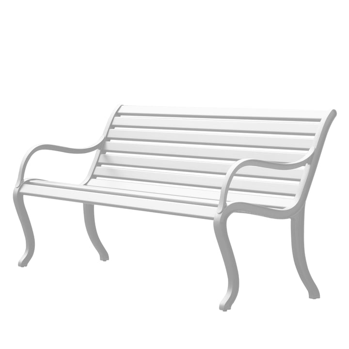 Oasi bench 127 cm by Fast in white