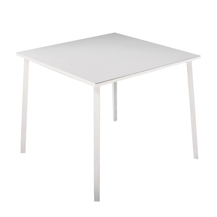 Tile table 100 x 100 cm by Fast in white