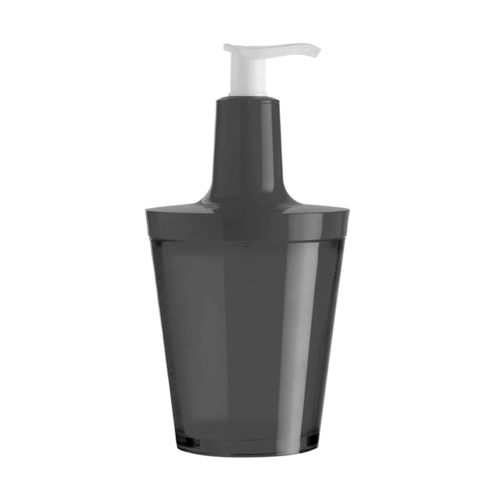 Koziol - Flow soap dispenser, transparent black