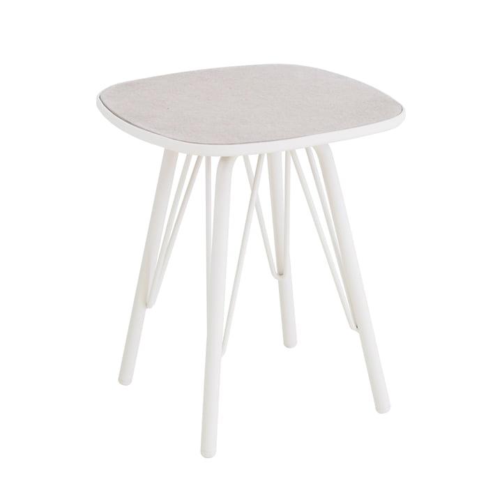 Lyze table 40 x 40 cm by Emu in white