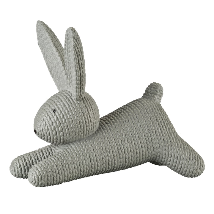 Rabbit lying large by Rosenthal in stone