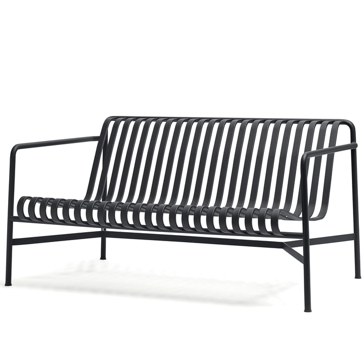 The Palissade Lounge Sofa by Hay in anthracite