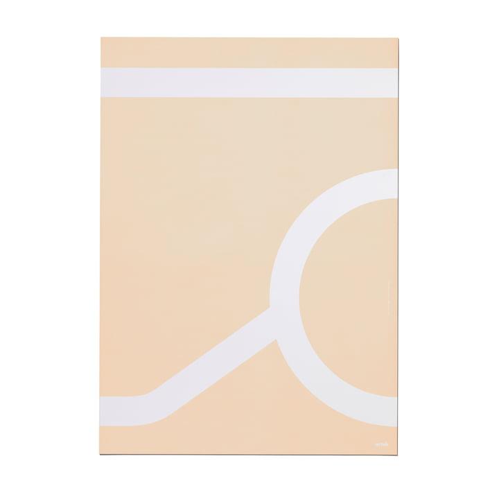 Artek - Outline Poster 50 x 70 cm, Tea Trolley 900 / beige