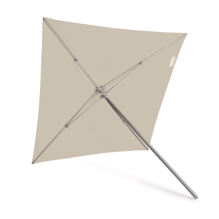 Klick parasol, square by Weishäupl in natural Dolan