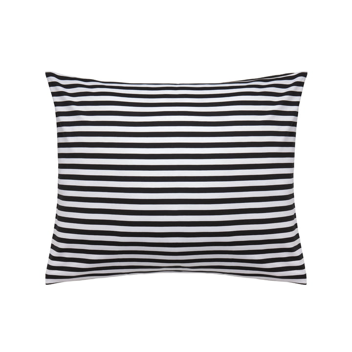 Tasaraita pillow cover 50 x 60 cm by Marimekko in black / white