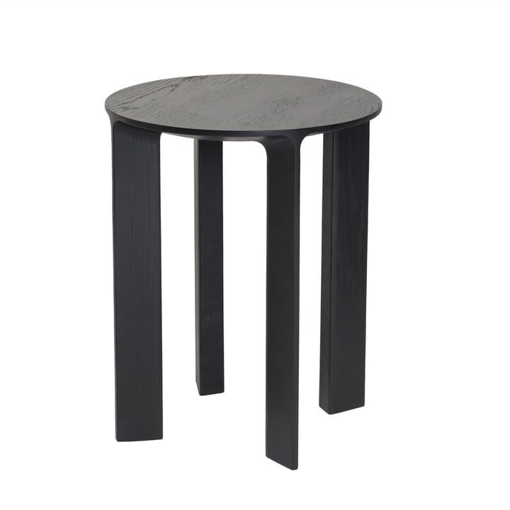Hans Stool & Side Table by Schönbuch in slate black oak