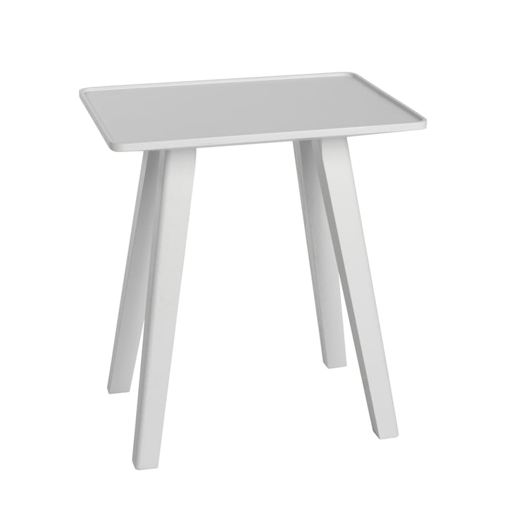Nini Stool & Side Table by Schönbuch in Snow White Oak (RAL 9016)