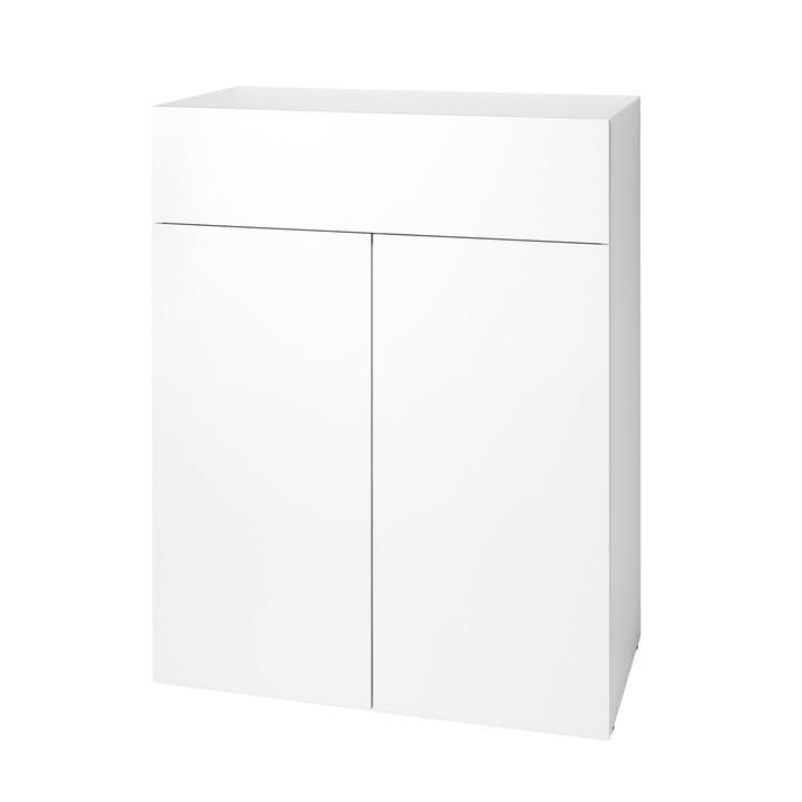 Urban Dresser 1072 (80 cm, 2 doors / 1 drawer) by Schönbuch in snow white (RAL 9016)