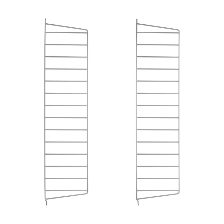 Wall Ladder for String Shelf 75 cm from String in Grey (2-pack)