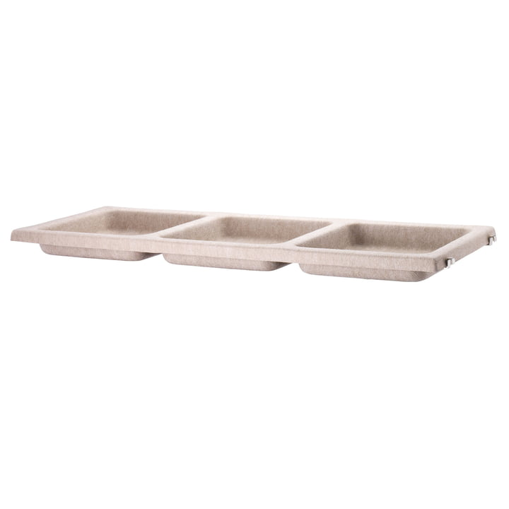 The storage tray out of felt by Hay in beige.
