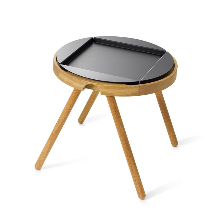 Auerberg - Tray Table Small, Oak / Black Aluminium Tray (Set)