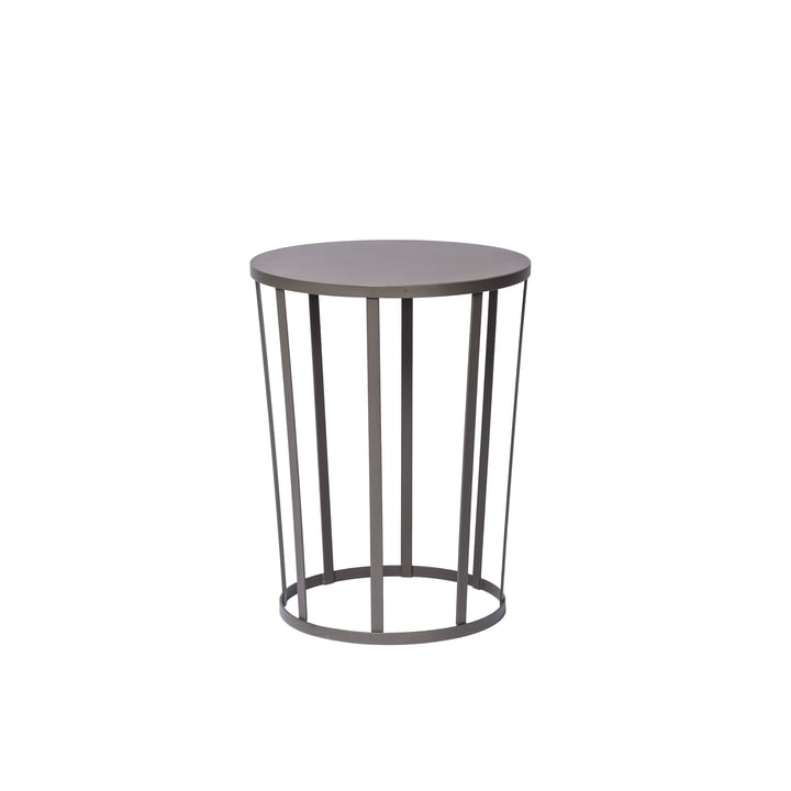 Hollo sidetable by Petite Friture in anthracite grey