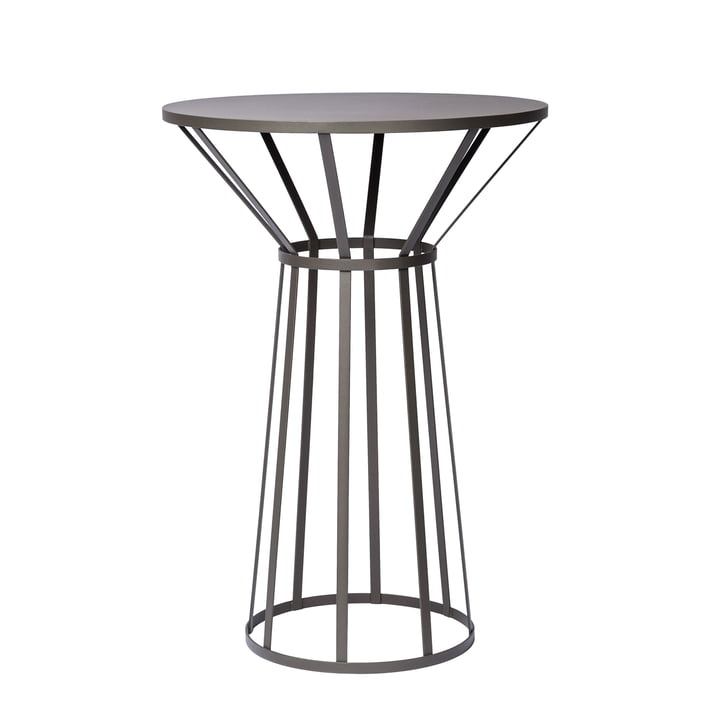 Hollo Bistro Table by Petite Friture in Anthracite Grey