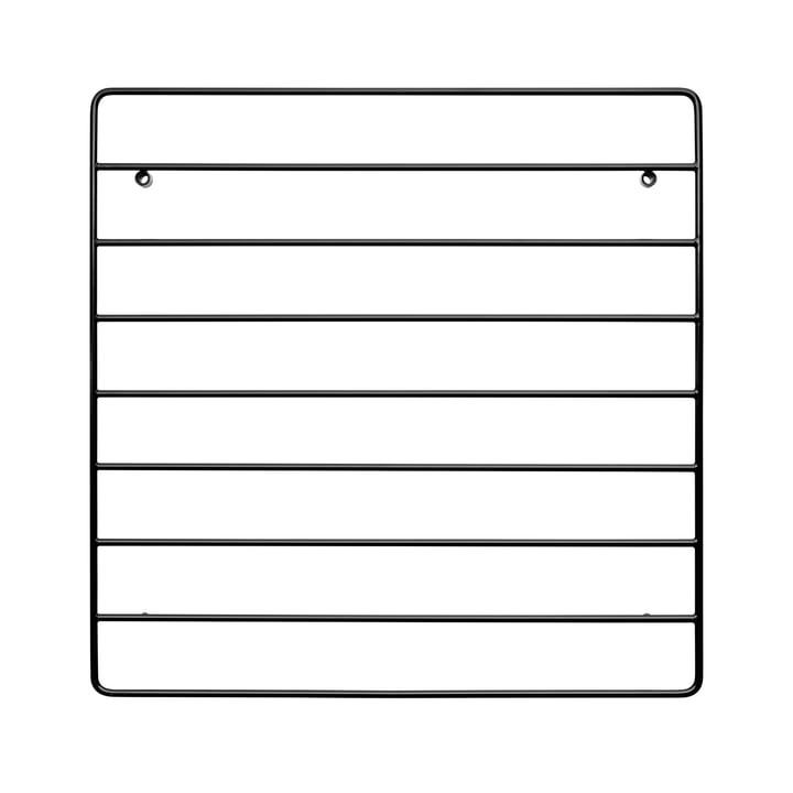 String - wall grid, 40 x 40 cm, black
