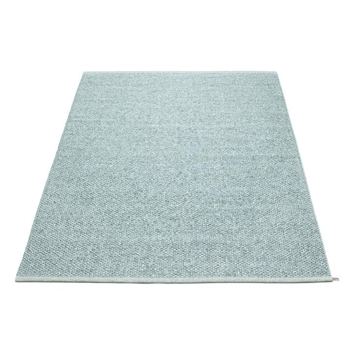 Pappelina - Svea Rug, 140 x 220 cm, Azurblue Metallic / Pale Turquoise