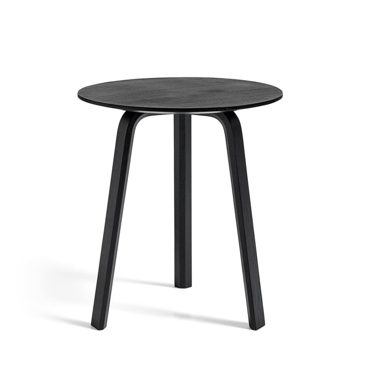 Bella Side table Ø 45 cm / H 49 cm from Hay in oak stained black