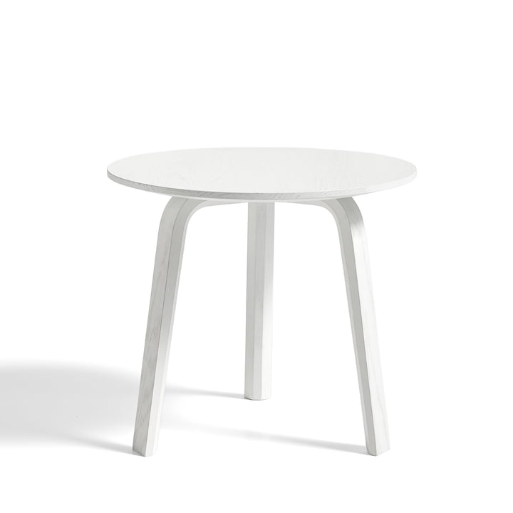Bella Side table of Hay in oak white stained Ø 45 cm / H 39 cm