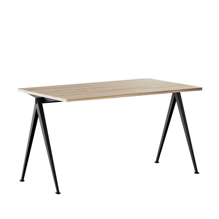 Pyramid Desk 140 x 75 cm from Hay in black / oak matt lacquered