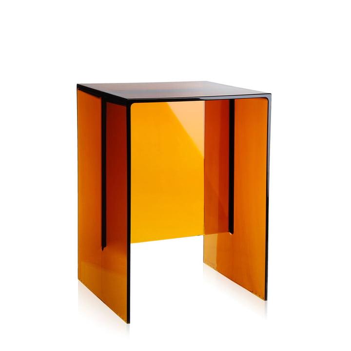 Kartell - Max-Beam Stool / Side Table, amber