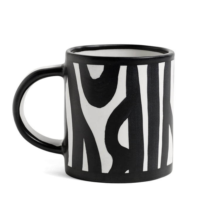 Wood Mug by Hay in Black and White