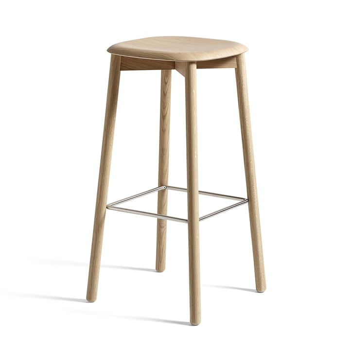 Soft Edge 32 High stool from Hay in oak matt lacquered