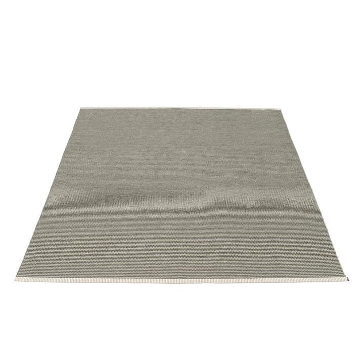 The Mono Rug 180 x 220 cm by Pappelina in Charcoal / Warm Grey