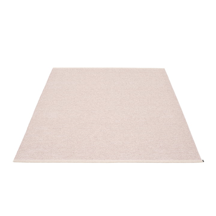 Mono Rug 140 x 200 cm by  Pappelina in Pale Pink / Ballet Pink: