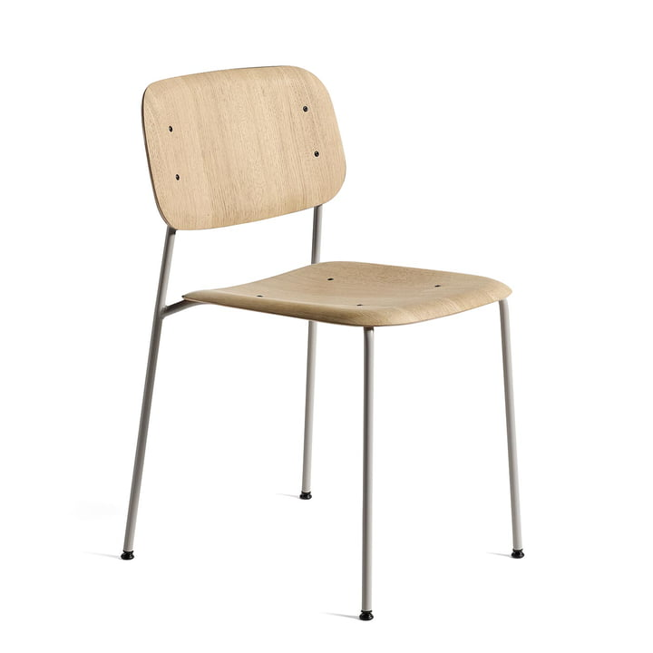Soft Edge 10 chair by Hay in matt lacquered oak / soft grey powder-coated steel