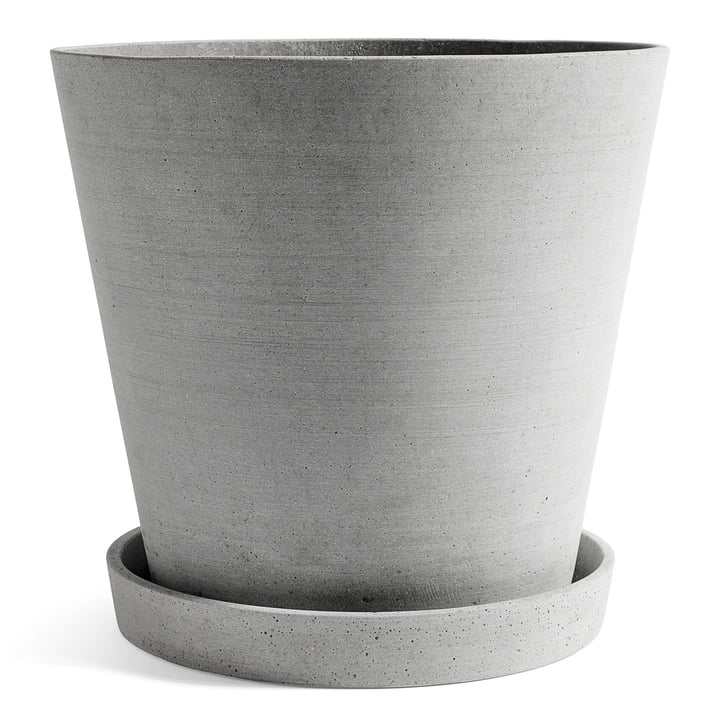 Flowerpot with Saucer XXXL by Hay in Grey