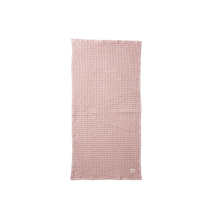Organic towel 100 x 50 cm in pink by ferm Living