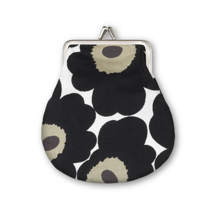 Mini Unikko Purse by Marimekko in White / Black