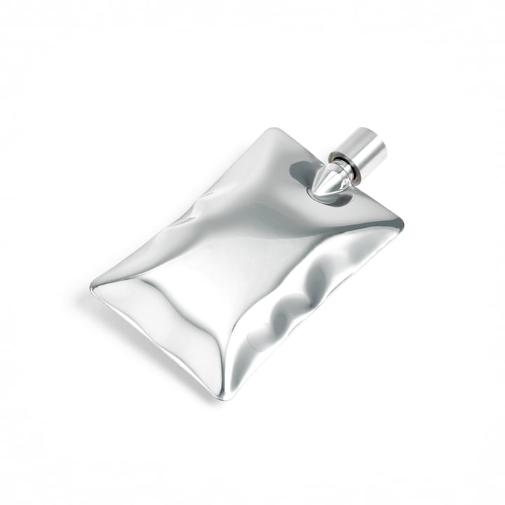 Liquid Body Flask by Areaware in Silver