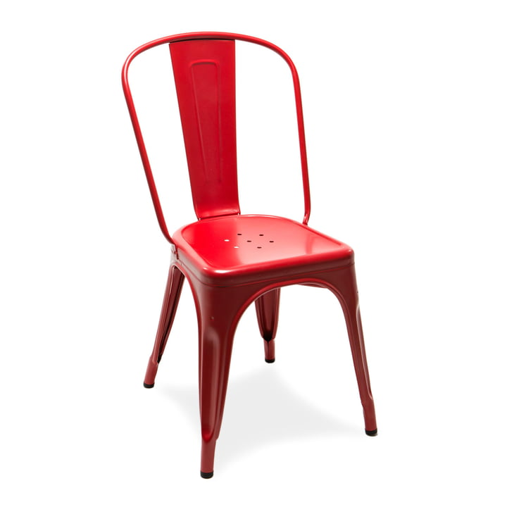 A Chair by Tolix in matt paprika red