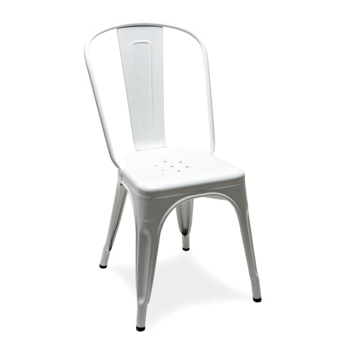 The A Chair by Tolix in Glossy White