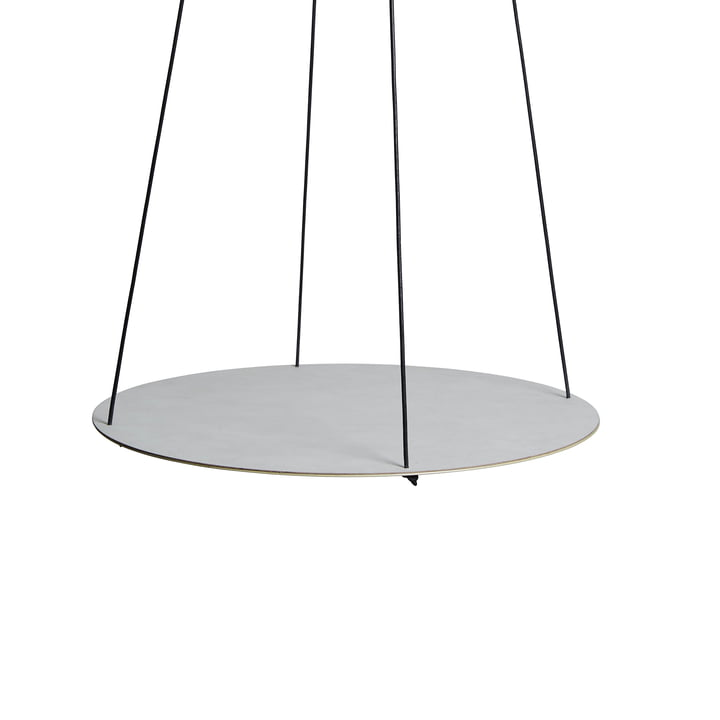 Pendulum Circle Ø 115 cm by LindDNA in Nupo metallic / metallic steel
