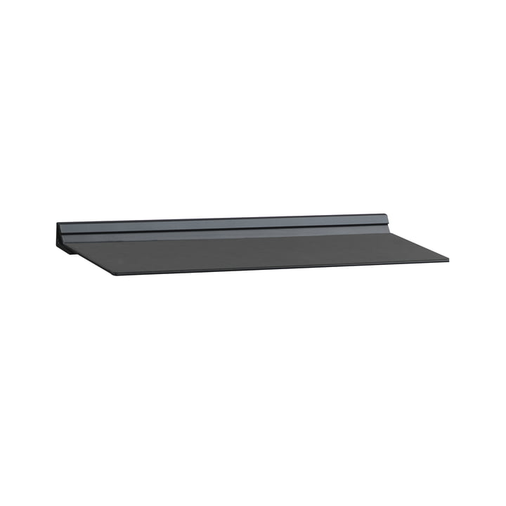 Slim wall shelf by LindDNA in M 12 x 35 cm in Black Nupo / Black Steel