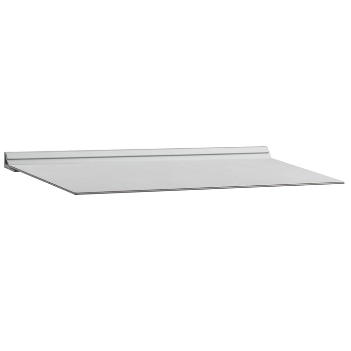 Slim Shelf M 20 x 45 cm by LindDNA in Metallic Nupo / Metallic Steel