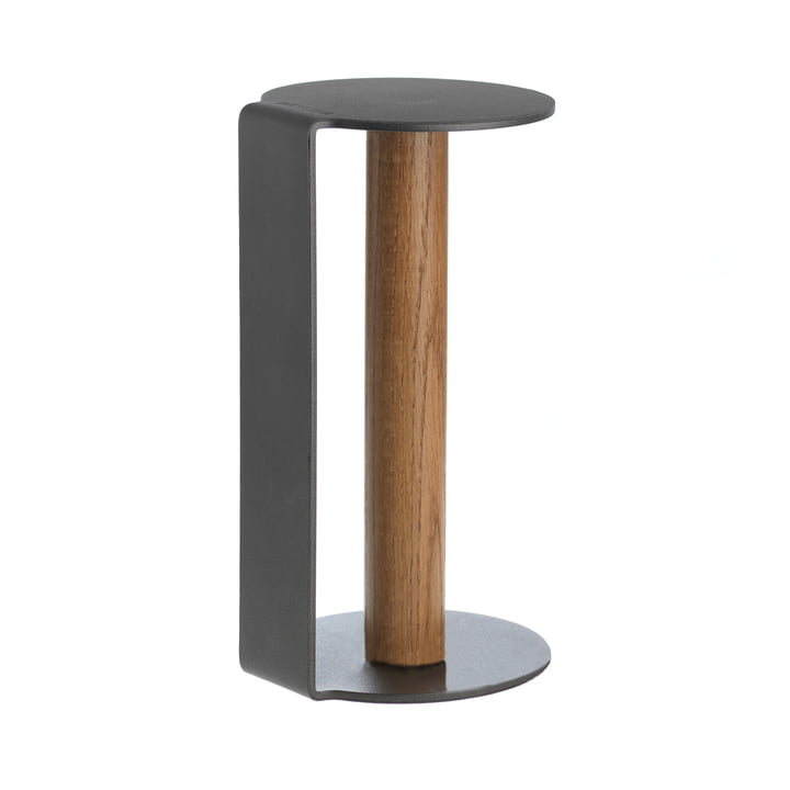 Kitchen Roll Holder XL 31 cm by LindDNA in Nupo Anthracite / Anthracite Aluminium.