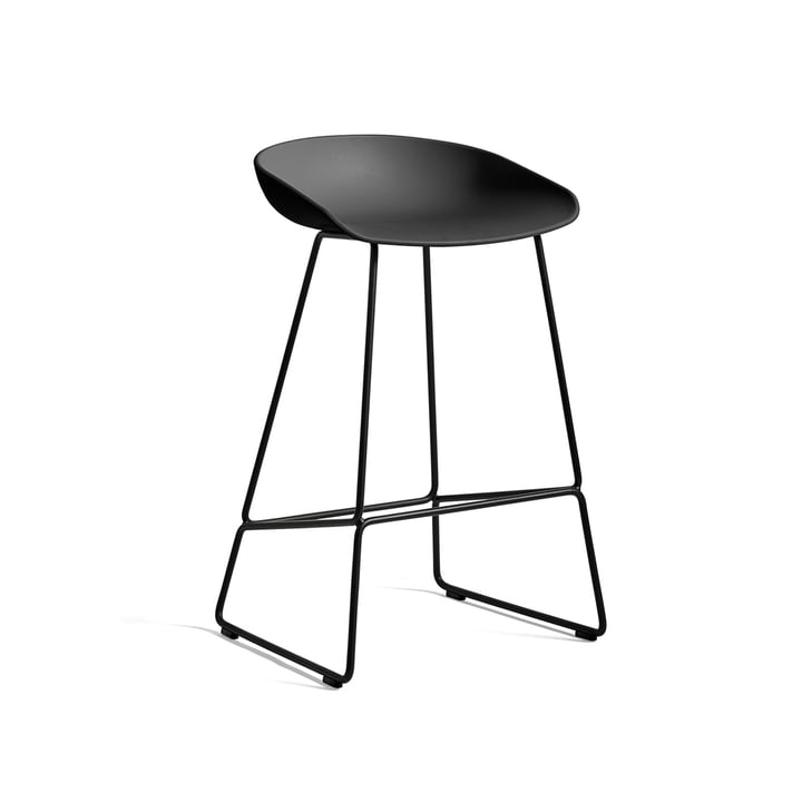 About A Stool AAS 38 bar stool H 76 by Hay in black