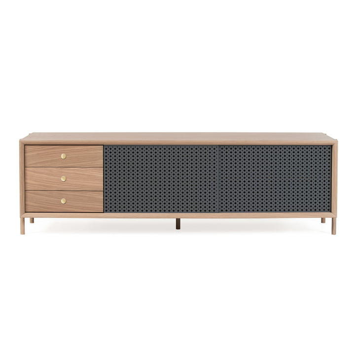 Gabin Sideboard with Drawers 162 cm by Hartô in Oak / Anthracite Grey (RAL 7016)