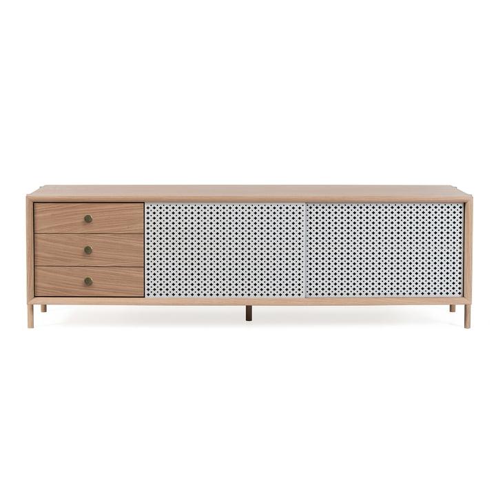 Gabin Sideboard with Drawers 162 cm by Hartô in Oak / Light Grey (RAL 7016)