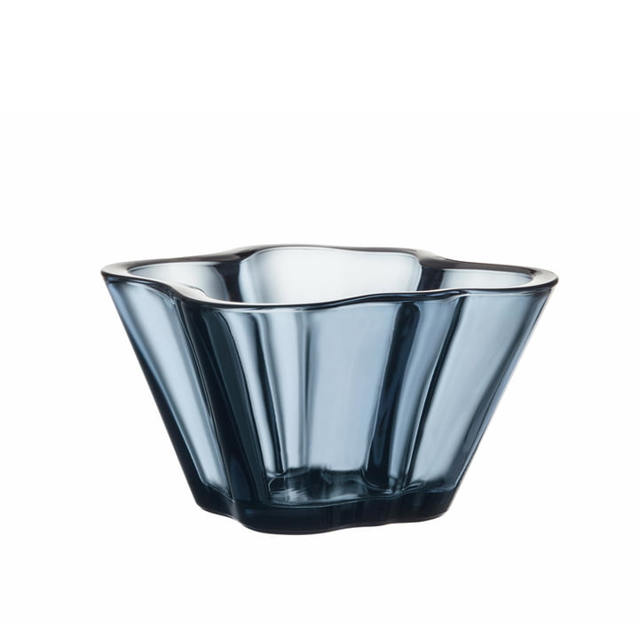 Aalto Bowl 75 mm from Iittala in rain blue