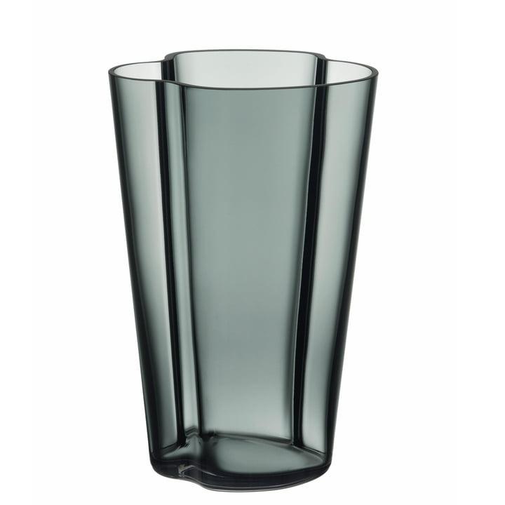 Aalto Vase Finlandia 220 mm by Iittala in Dark Grey