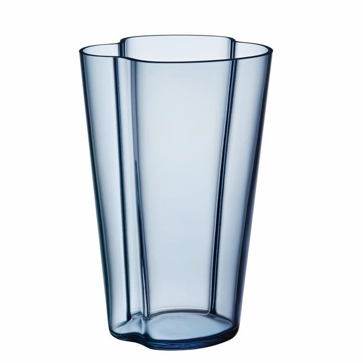 Aalto Vase Finlandia 220 mm by Iittala in Rain Blue