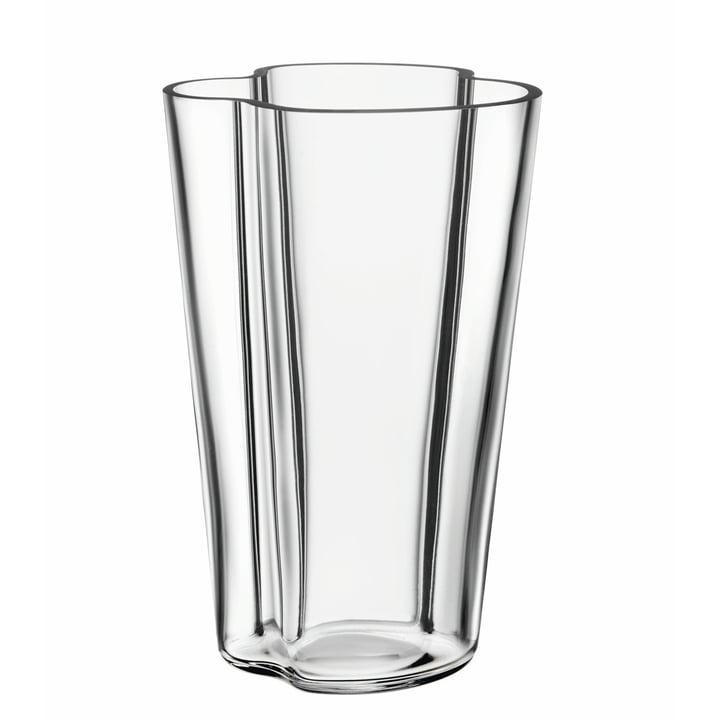 Aalto Vase Finlandia 220 mm by Iittala, Clear