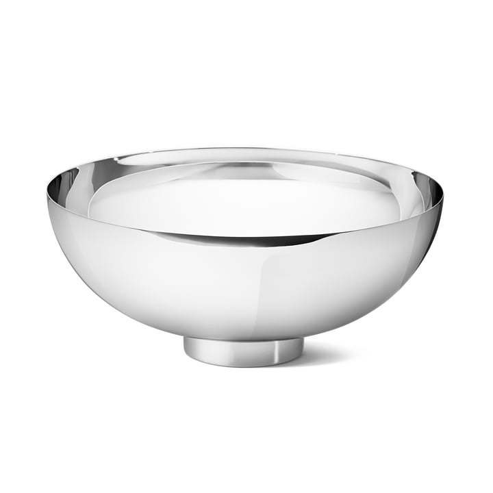Ilse Bowl Large by Georg Jensen in polished stainless steel