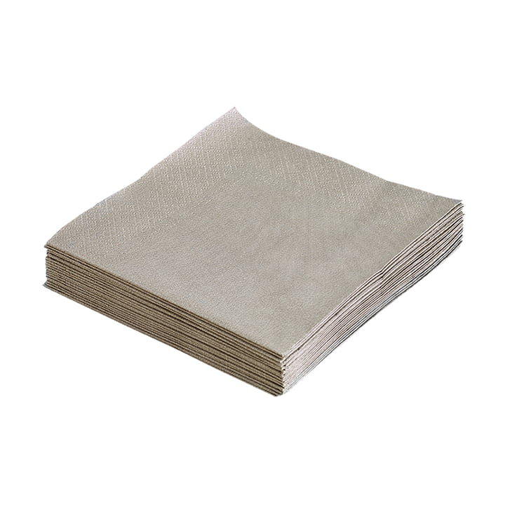 Paper napkins 33 x 33 cm by LindDNA in light grey (20 pcs.)