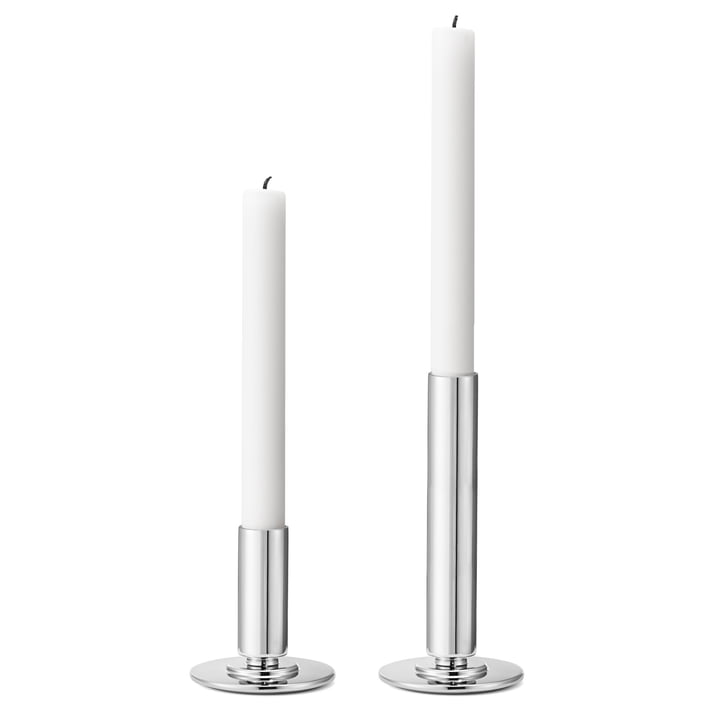 Georg Jensen - Manhattan Candleholder, stainless steel (set of 2)